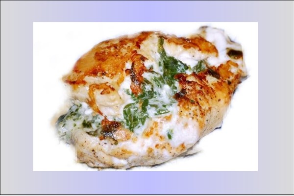 GG's KETO CHEESY SPINACH CHICKEN BREASTS