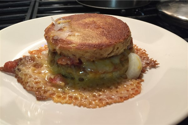 GGs KETO Grilled Cheese and Bacon on Mug Bread