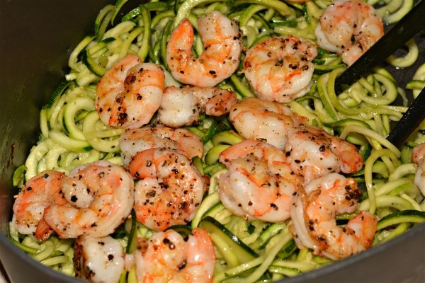 GG's KETO Easy Peasy Shrimp Zoodles
