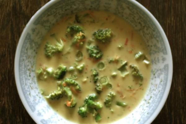 GG's Zucchni Broccoli Cheese Soup